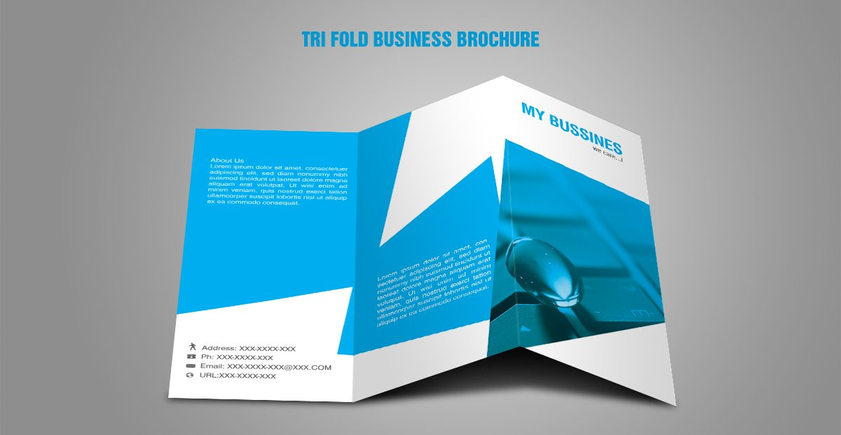 Free Tri Fold Brochure Vector Template - Download Free