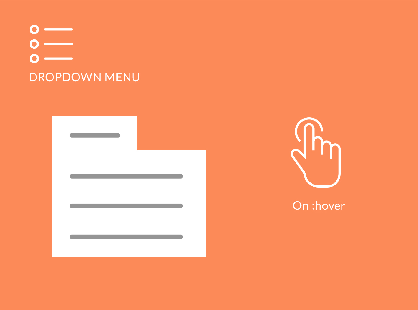 Free Download Flat Menu PSD and HTML/CSS